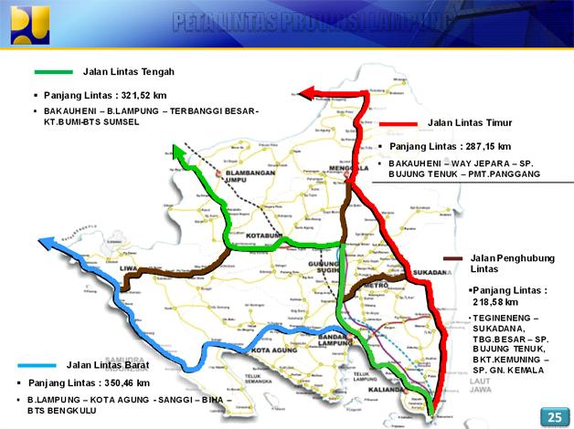 Peta Jalan Lintas Palembang Lampung